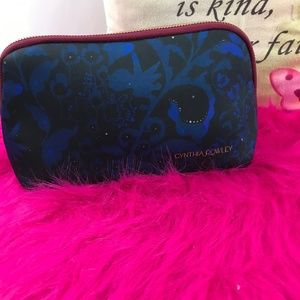 Cynthia Rowley Blue & Black Cosmetic Bag